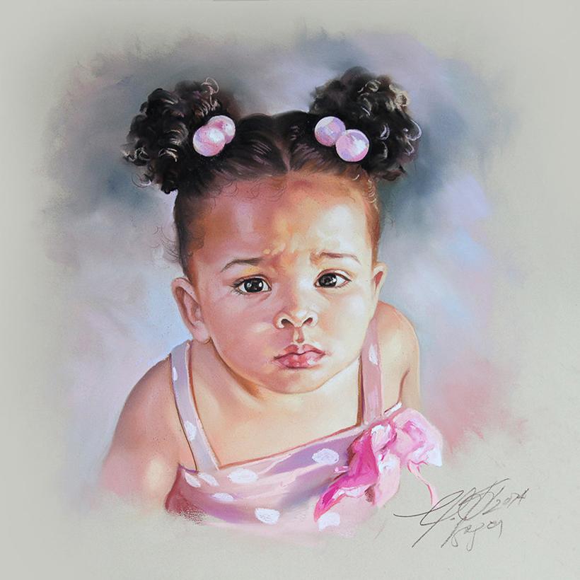 English Pastel Portraits By Graciela Bombalova